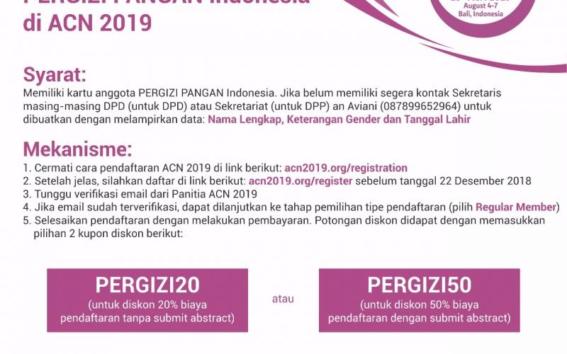 Diskon Khusus Anggota PERGIZI Pangan Indonesia