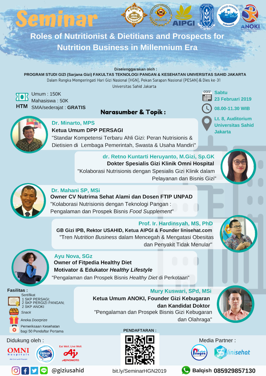 """Seminar """"Roles of Nutritionists & Dietitians and Prospects for Nutrition Business in Millenium Era"""""""