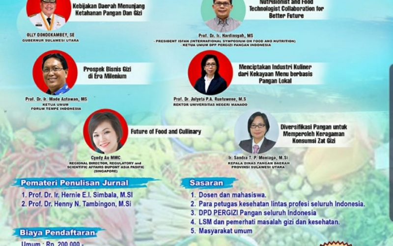 Seminar Nasional dan Pelatihan Penulisan Jurnal DPD PERGIZI Pangan Sulawesi Utara 2019