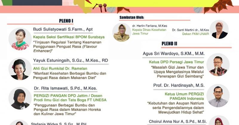 Keamanan dan Manfaat Kesehatan Bumbu dan Penguat Rasa edisi Jawa Timur