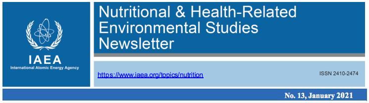 IAEA – Nutritional & Health-Related Environmental Studies Newsletter