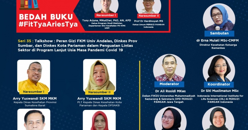 SIARAN PERS Bedah Buku #FitTyaAriestya dan Posisi PERGIZI PANGAN Indonesia